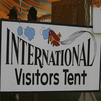 International Visitors Tent
