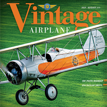 2019 July/August Vintage Airplane magazine cover