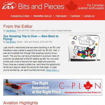 EAA Newsletter - Bits n Pieces