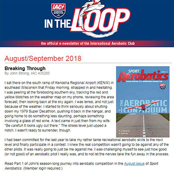 EAA Newsletters - In the Loop
