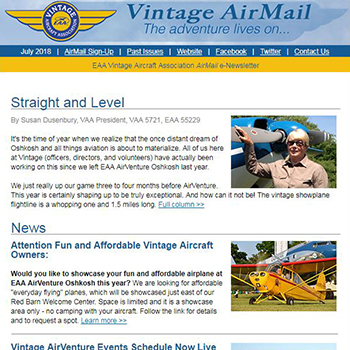 EAA Newsletter - Vintage Airmail