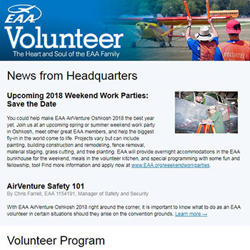 EAA Newsletter - Volunteer