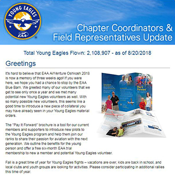 EAA Newsletters - YE Chapter Coordinator