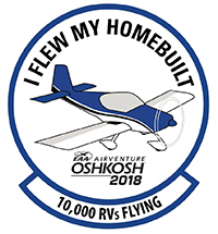 AirVenture 2018 Homebuilt Patch Honors Van's Aircraft