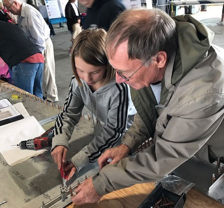 Zenair CH 701 Build Session at Regina Flying Club Open House
