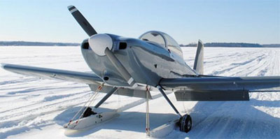 RV-8 On Skis Helps Research in Antarctica
