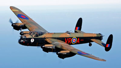 Lanc in Flight