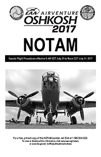 AirVenture 2017 NOTAM cover