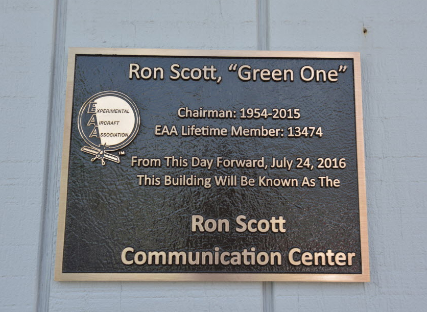 Comm Center Dedicated in Memory of 'Green One'